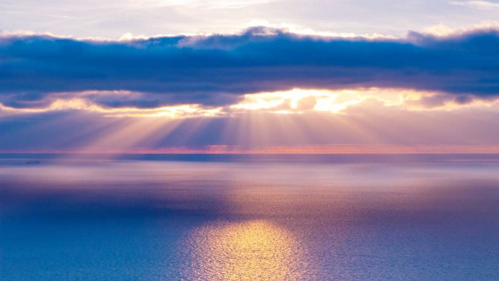 Example CBT tool: image of sunrise over water