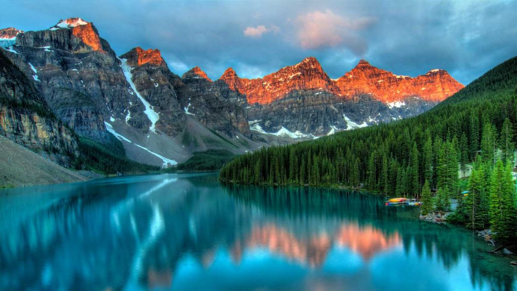 Thoughts and feelings: image of a serene alpine lake