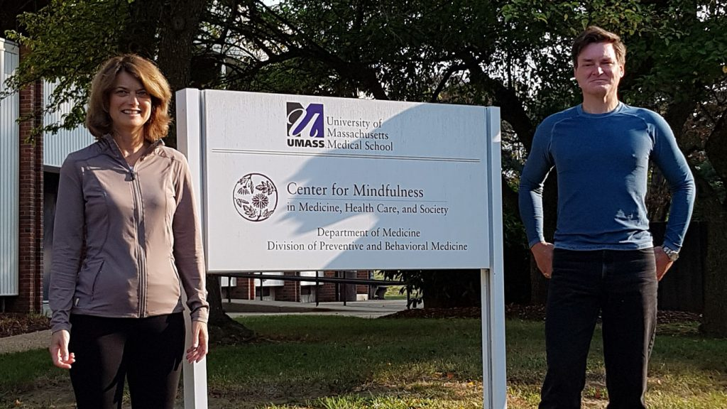 Our Mindfulness Teachers: image of Dr. Susan Williams and colleague at the Centre for Mindfulness, University of Massachusetts (UMASS) Medical School