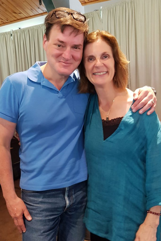 Andre with Florence Meleo-Myer in a mindfulness course led by Florence