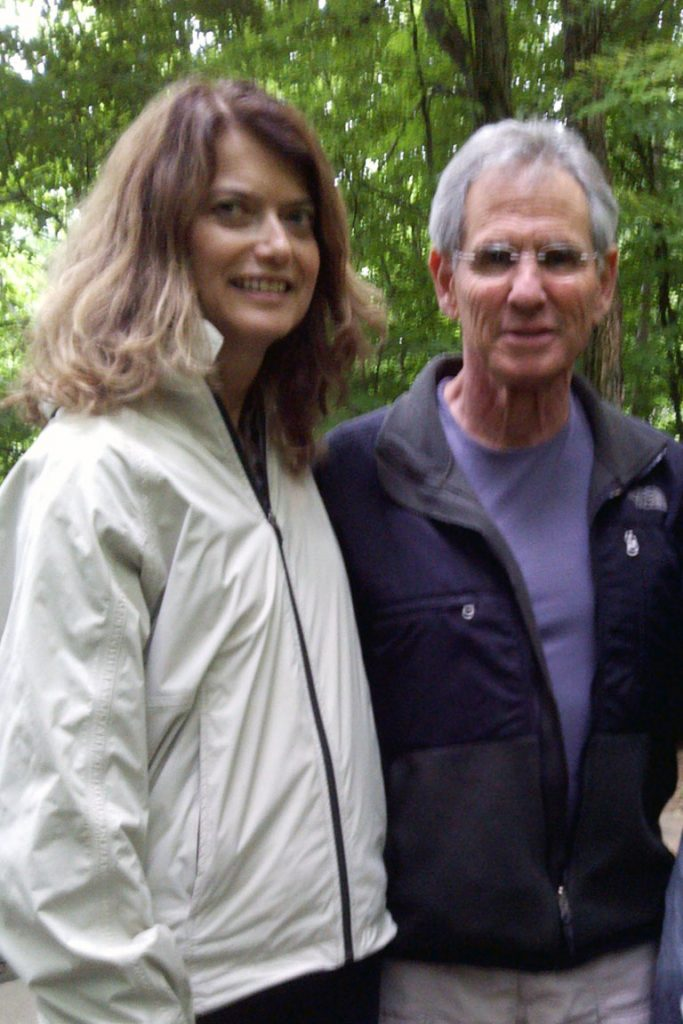 Susan with Jon Kabat-Zinn in a mindfulness course led by Jon